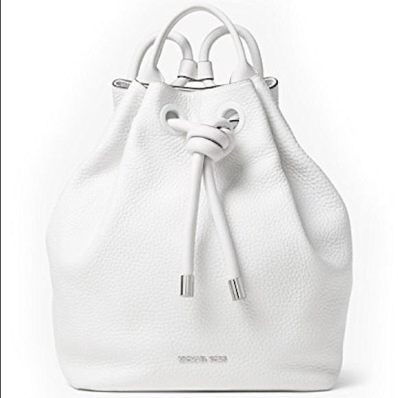 47a847039e32 ... where can i buy michael kors nwt optic white dalia backpack 9d0a1 81bba